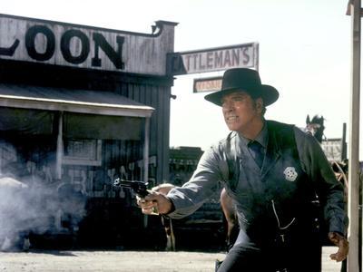 L'homme by la loi ( Lawman) by Michael Winner with Burt Lancaster, 1971 (photo)