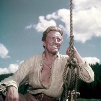 La captive aux yeux clairs THE BIG SKY by HowardHawks with Kirk Douglas, 1952 (photo)