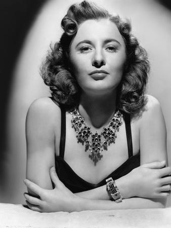 L'actrice americaine Barbara Stanwyck (1907- 1990) en, 1942 (b/w photo)