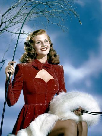 L'actrice americaine Rita Hayworth (1918- 1987) (photo)