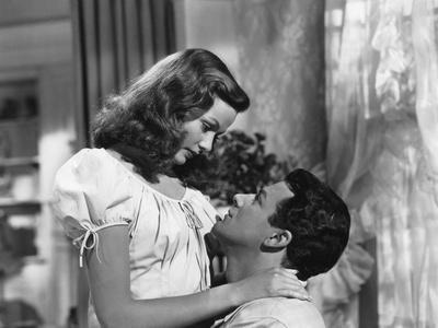 Peche Mortel LEAVE HER TO HEAVEN by JohnStahl with Gene Tierney and Cornel Wilde, 1945 (b/w photo)