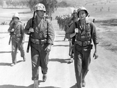 Iwo Jima Sands of Iwo Jima by AllanDwan with ohn Wayne and John Agar, 1949 (b/w photo)