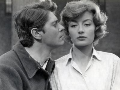 La Tete contre les murs by GeorgesFranju with Jean Pierre Mocky and Anouk Aimee, 1959 (b/w photo)
