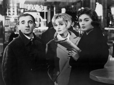 Les Dragueurs by JeanPierreMocky with Charles Aznavour, Margit Saad and Ingeborg Schoner, 1959 (b/w
