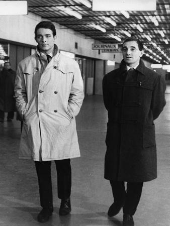 Les Dragueurs by JeanPierreMocky with Jacques Charrier and Charles Aznavour, 1959 (b/w photo)