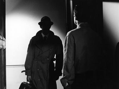 Le Doulos by Jean Pierre Melville with Jean Paul Belmondo, 1962 (b/w photo)