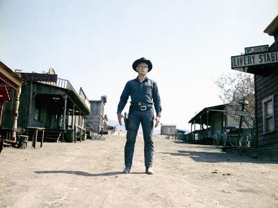 Les sept Mercenaires The MAGNIFICENT SEVEN by John Sturges with Yul Brynner, 1960 (photo)