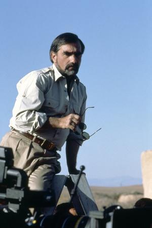 Le realisateur Martin Scorsese sur le tournage du film La Derniere Tentation du Christ THE LAST TEM