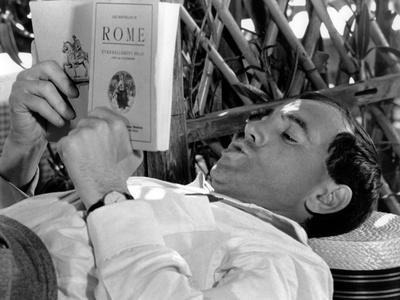 Tempo di Roma by Denys by La Patelliere with Charles Aznavour, 1963 (b/w photo)