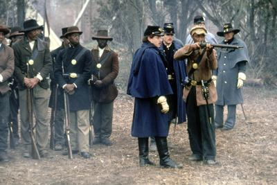 Pour la gloire GLORY by EDWARDZWICK with Morgan Freeman, 1989 (guerre by Secession) (photo)