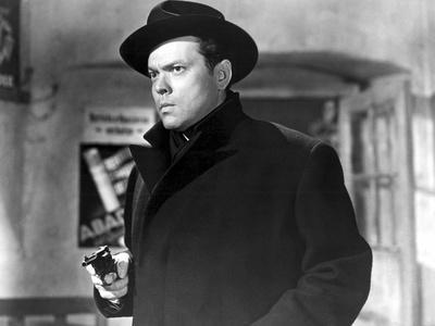 Orson Welles in 'The Third Man', 1949 (b/w photo)
