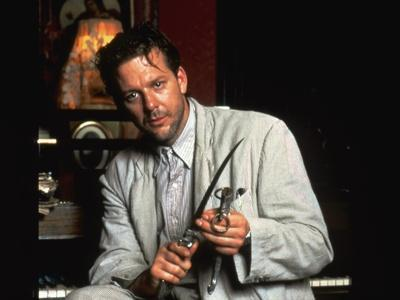 ANGEL HEART, 1987 directed by ALAN PARKER Mickey Rourke (photo)