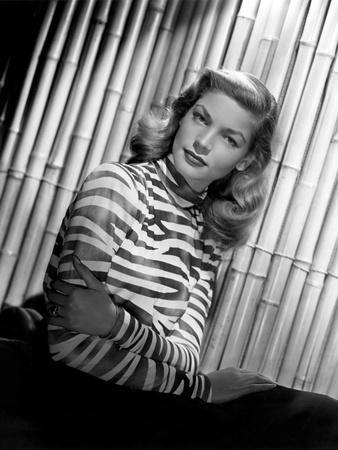 American actress Lauren Bacall, 1944 (b/w photo)