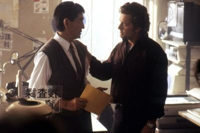 Black Rain by Ridley Scott with Ken Takakura and Michael Douglas, 1989 (photo)