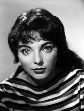 British actress Joan Collins in the 50's (b/w photo)