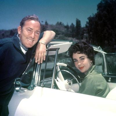 MICHAEL WILDING AND ELIZABETH TAYLOR, 1953 (photo)