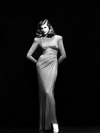 Lauren Bacall (b/w photo)