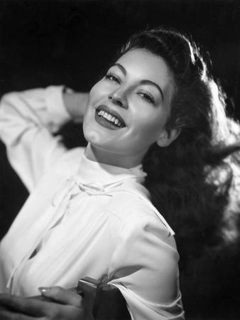 Ava Gardner, 1946 (b/w photo)