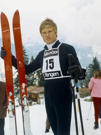 Downhill Racer by Michael Ritchie with Robert Redford, 1969 (photo)