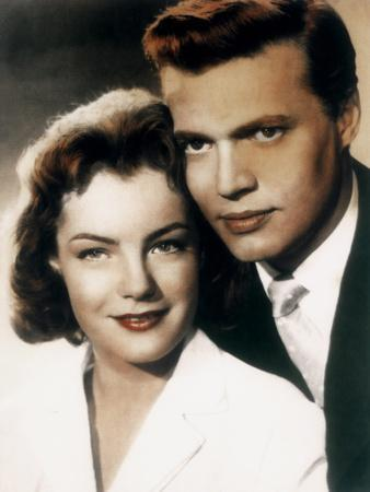 Romy Schneider and Karl-Heinz B?hm KITTY UND DIE GROSSE WELT / KITTY, 1956 directed by ALFRED WEIDE