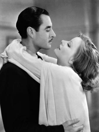 A WOMAN OF AFFAIRS, 1929 directed by CLARENCE BROWN with John Gilbert / Greta Garbo (b/w photo)