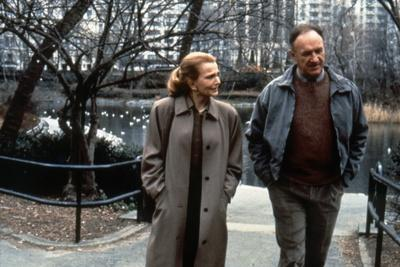 ANOTHER WOMAN, 1988 directed by Woody Allen Gena Rowlands and Gene Hackman (b/w photo)