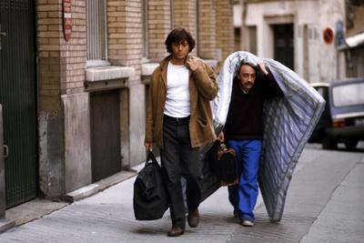 Bernard Giraudeau and Michel Blanc VIENS CHEZ MOI, J'HABITE CHEZ UNE COPINE, 1980 directed by PATRI