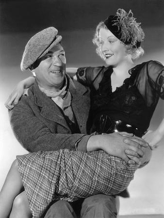 Victor McLaglen and Margot Grahame. THE INFORMER, 1935 directed by JOHN FORD (b/w photo)