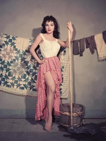 Debra Paget THE GAMBLER FROM NATCHEZ, 1954 directed by HENRY LEVIN (photo)