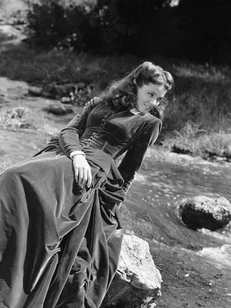 BELLE STARR, 1941 directed by IRVING CUMMINGS Gene Tierney (b/w photo)