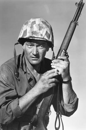 Iwo Jima Sands of Iwo Jima by AllanDwan with John Wayne, 1949 (b/w photo)