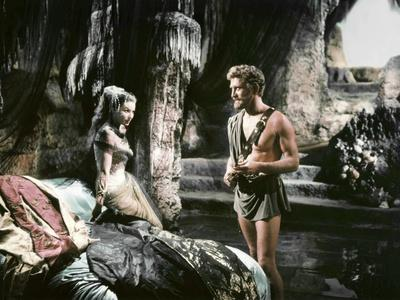 Ulysse Ulysses by Mario Camerini with Silvana Mangano and Kirk Douglas, 1954 (photo)