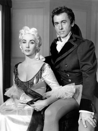 BEAU BRUMMELL, 1954 directed by CURTIS BERNHARDT Elizabeth Taylor and Stewart Granger (b/w photo)