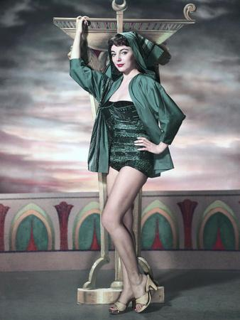 Land of the Pharaohs by Howard Hawks with Joan Collins, c, 1955. Promotional portrait (photo)