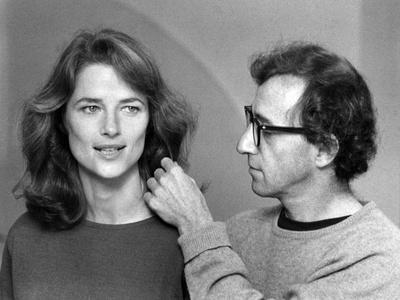 Charlotte Rampling and Woody Allen STARDUST MEMORIES, 1980 directed by Woody Allen (b/w photo)