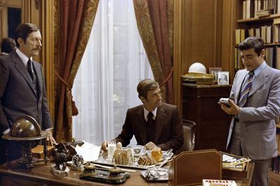 L'Heritier by Philippe Labro with Jean Rochefort Jean Paul Belmondo and Charles Denner, 1972 (photo