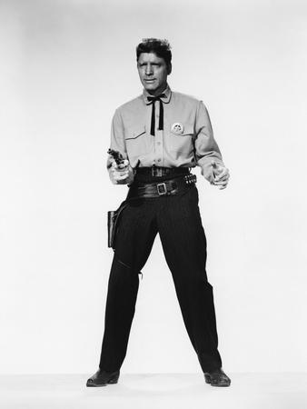 GUNFIGHT AT THE O.K. CORRAL, 1957 directed by JOHN STURGES Burt Lancaster (b/w photo)