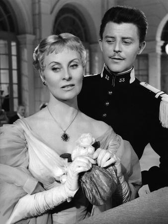 LES GRANDES MANOEUVRES, 1955 directed by RENE CLAIR Michele Morgan / Gerard Philipe (b/w photo)