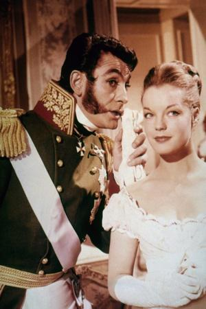 LA BELLE and L'EMPEREUR, 1959 par Axel von Ambesser with Jean Claude Pascal and Romy Schneider (pho