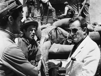 "Director Luchino Visconti on set of film ""The Leopard"", 1962 (b/w photo)"