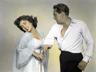 ELEPHANT WALK, 1954 directed by WILLIAM DIETERLE Elizabeth Taylor / Peter Finch (photo)