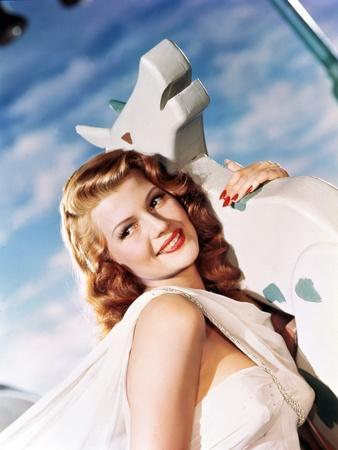 DOWN TO EARTH, 1947 directed by ALEXANDER HALL Rita Hayworth (photo)