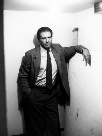 FRANTIC, 1988 directed by ROMAN POLANSKI Harrison Ford (b/w photo)