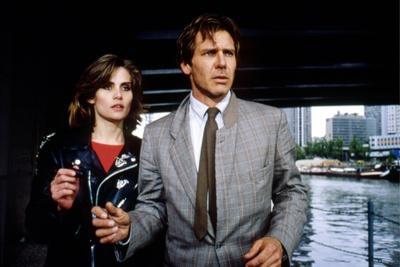 FRANTIC, 1988 directed by ROMAN POLANSKI Emmanuelle Seigner and Harrison Ford (photo)