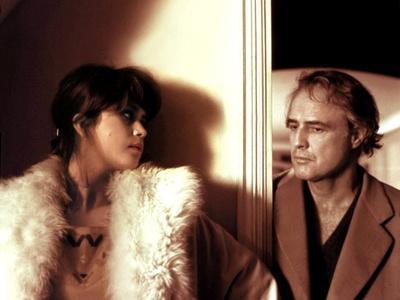 LAST TANGO IN PARIS, 1972 directed by BERNADO BERTOLUCCI Maria Schneider and Marlon Brando (photo)