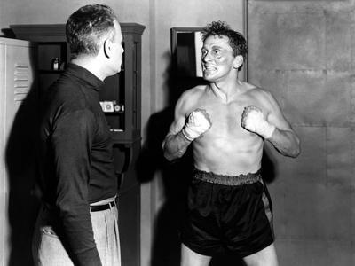 LE CHAMPION by MarkRobson with Paul Stewart and Kirk Douglas, 1949 (b/w photo)
