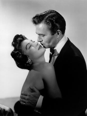 EAST SIDE, WEST SIDE, 1949 directed by MERVYN LeROY Ava Gardner and James Mason (b/w photo)