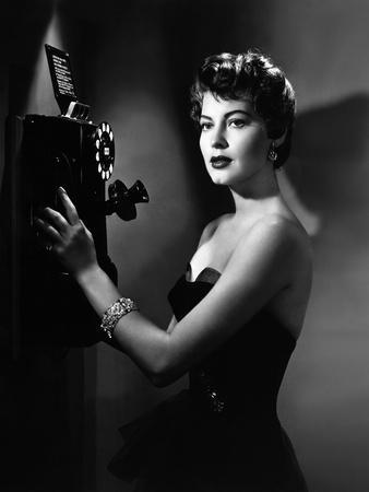 EAST SIDE WEST SIDE, 1949 directed by MERVYN LeROY Ava Gardner (b/w photo)