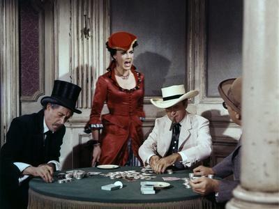 CHEYENNE AUTUMN, 1964 directed by JOHN FORD John Carradine and James Stewart (photo)
