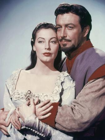 KNIGHTS OF THE ROUND TABLE, 1953 directed by RICHARD THORPE Ava Gardner and Robert Taylor (photo)